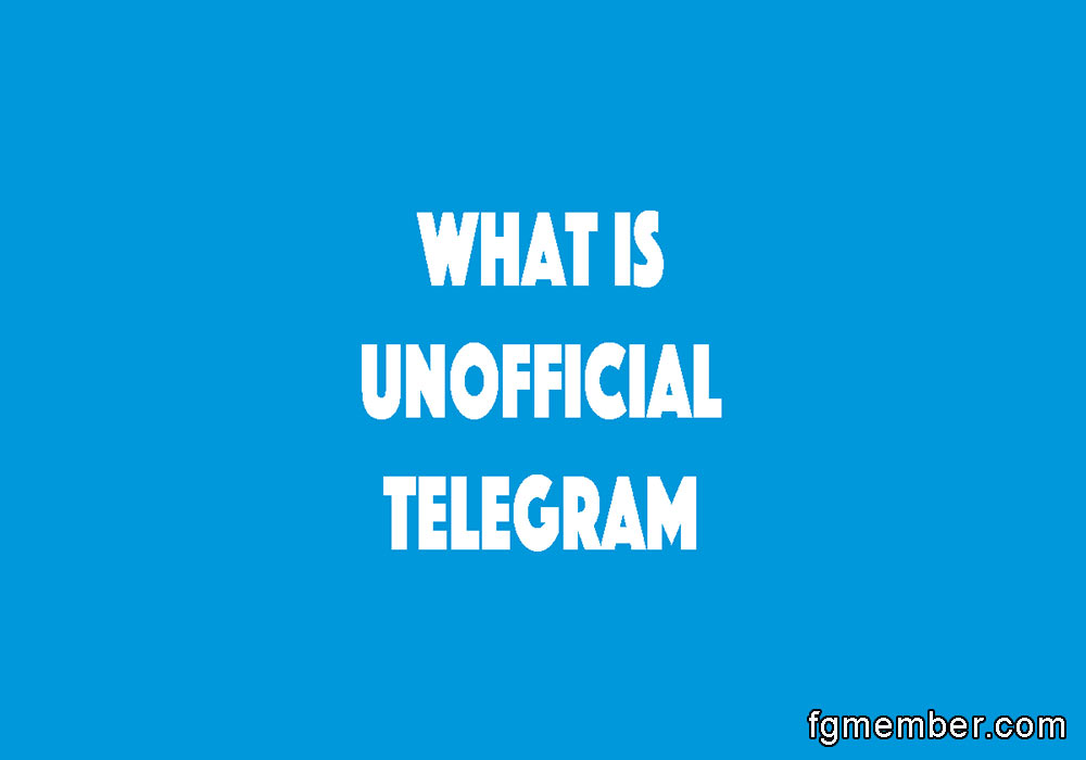 Unofficial telegram
