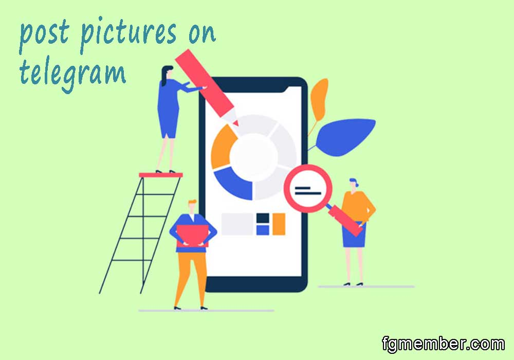 Post pictures on telegram