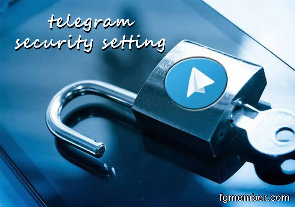 Telegram security settings
