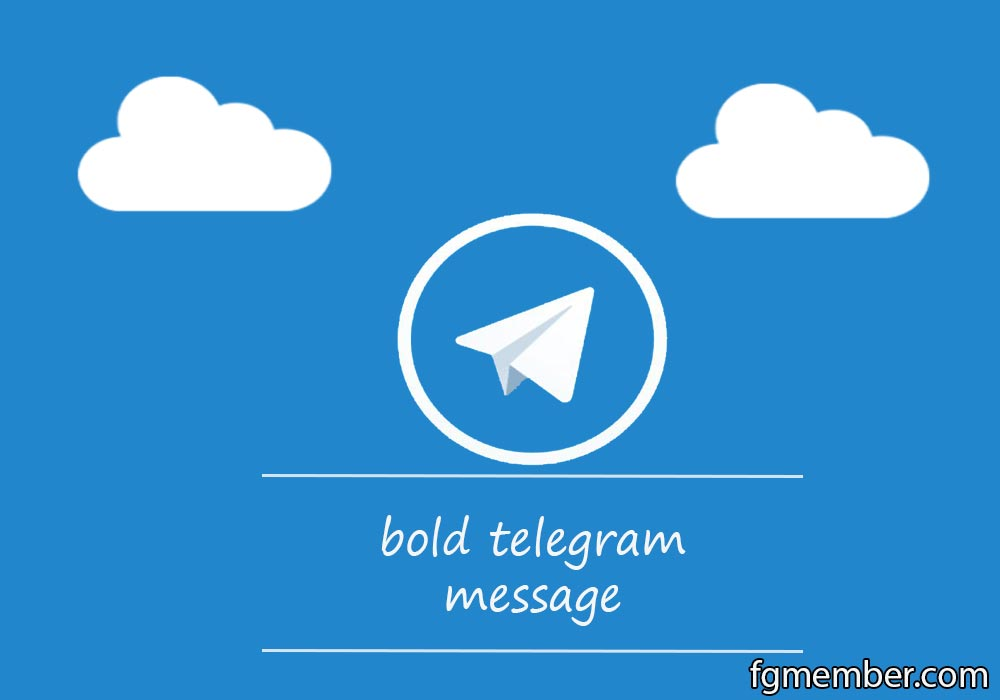Bold telegram message
