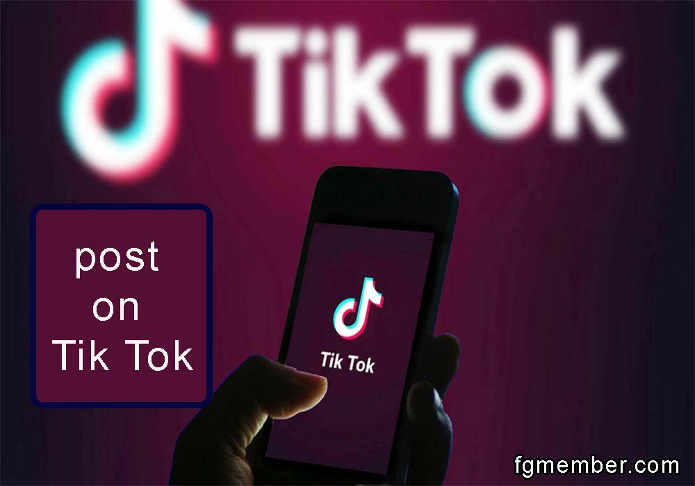Post in Tik Tok