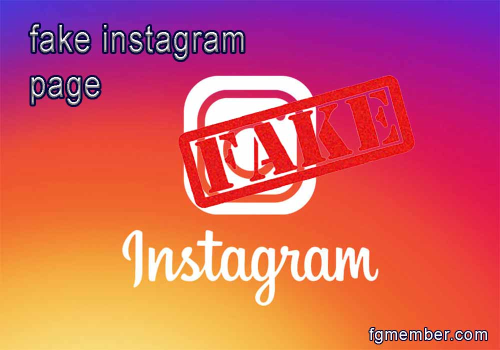 Fake Instagram pages